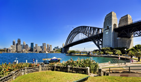 Princess Cruises Australia Sydney view with harbour bridge