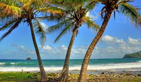 Princess Cruises beach at Pigeon Island Saint Lucia Caribbean