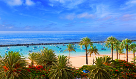 Princess Cruises beach Las Teresitas in Santa Cruz de Tenerife north at Canary Islands