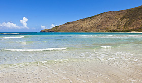 Princess Cruises beach on the caribbean island of St. Kitts