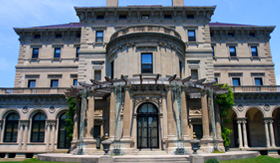 Princess Cruises breakers built by Cornelius Vanderbilt of gilded age Newport Rhode Island