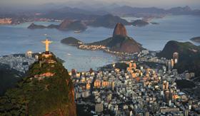 Princess Cruises Christ Standing on top of Corcovado hill Rio de Janeiro Brazil