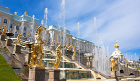Princess Cruises Grand Cascade Fountains in Peterhof Palace, Russia