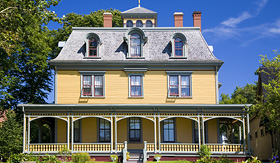 Princess Cruises historic house is in Charlottetown Prince Edward Island Canada