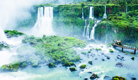 Princess Cruises Iguassu Falls view from Brazilian side