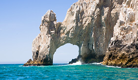 Princess Cruises rock at the very end of the Baja Peninsula near Cabo San Lucas Mexico