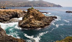 Princess Cruises rocks near La Bufadora Ensenada Baja California Mexico