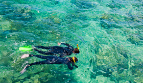 Princess Cruises snorkelers Great Barrier Reef Australia