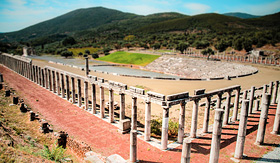 Princess Cruises stadium in the city of ancient Messina Peloponnes Greece