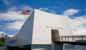 Princess Cruises USS Arizona memorial in Pearl Harbor