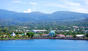 Princess Cruises view of Apia Samoa