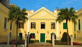 Princess Cruises view of Classical Church Architecture in Macau China