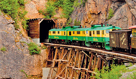 Princess Cruises White Pass Yukon railroad