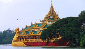 Palace near Yangon, Myanmar