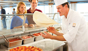 Princess Cruises dining The Pizzaria