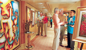 Princess Cruises onboard activities Art Auctions