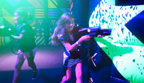 Children Playing Laser Tag onboard Mariner of the Seas