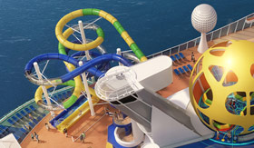 The Perfect Storm Dual Waterslides onboard Mariner of the Seas