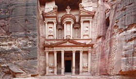 Regent Seven Seas Cruises Al Khazneh the treasury of Petra ancient city Jordan