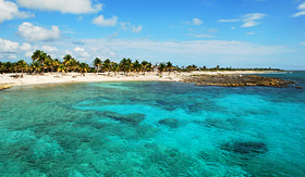 Regent Seven Seas Cruises beach in Costa Maya, Mexico