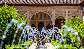 Regent Seven Seas Cruises gardens of the generalife in Spain part of the Alhambra
