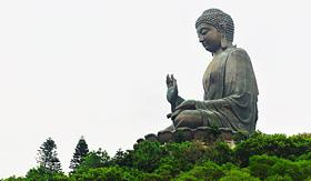 Regent Seven Seas Cruises giant Buddha Po Lin monastery in Hong Kong Lantau island