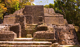 Regent Seven Seas Cruises Mayan Temple of the Mask in Lamanai, Belize