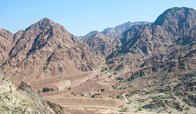 Hajar Mountains of Dubai, UAE