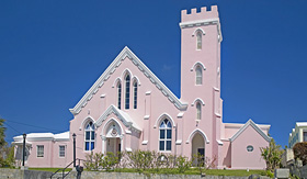 Regent Seven Seas Cruises the pink Salvation Army Church in St Georges Bermuda