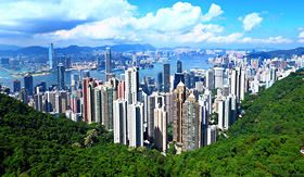 Aerial view of Hong Kong