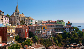 Regent Seven Seas Cruises viewed on Cerro Concepcion Valparaiso historic world heritage of UNESCO