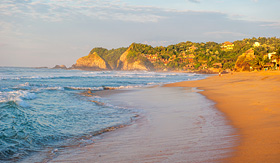 Regent Seven Seas Cruises Zipolite Beach at sunrise, Mexico