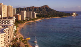 Diamond Head Crater in Honolulu, Hawaii