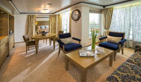 Regent Seven Seas Cruises staterooms Navigator/Mariner/Voyager Suite