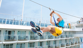 Allure of the Seas Zip Line - Royal Caribbean