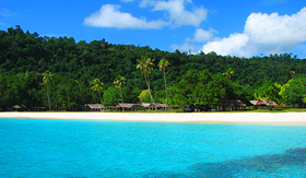 Royal Caribbean beautiful, famous Champagne Beach, Vanuatu, South Pacific