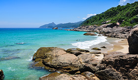 Royal Caribbean beautiful scenery of Ilha Grande Brazil