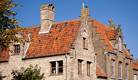 Royal Caribbean building in the old town of Damme Belgium