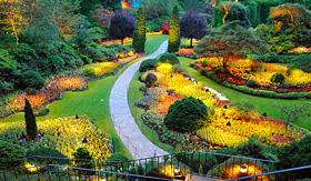 Royal Caribbean Butchart Gardens in Victoria, Canada