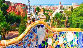 Royal Caribbean Ceramic Mosaic Park Guell Designed by Antoni Gaudi
