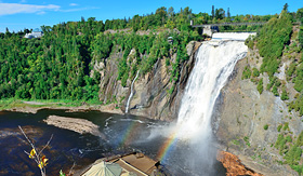 Royal Caribbean Montmorency Falls and rainbow Quebec City Canada