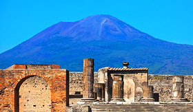Royal Caribbean Mount Vesuvius above Pompeii, Italy