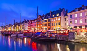 Royal Caribbean Nyhavn Canal in Copenhagen, Demark