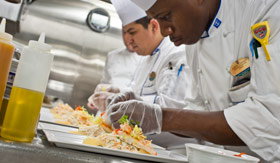 Royal Caribbean International onboard activities Cooking Demonstration