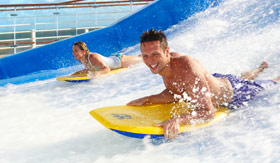 Royal Caribbean International onboard activities Flow Rider