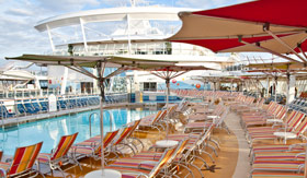 Royal Caribbean International onboard activities Pool Deck