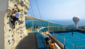 Royal Caribbean International onboard activities Rock Climbing