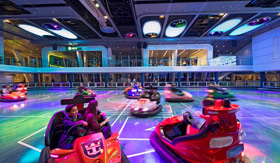 Royal Caribbean Ovation of the Seas' SeaPlex Bumper Cars