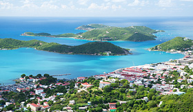 Royal Caribbean panorama of Charlotte Amalie St Thomas