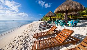 Royal Caribbean resort beach in Cozumel Mexico